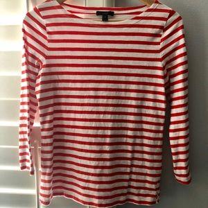JCrew stripe shirt with 3/4 length sleeve